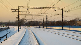 συστροφή στο σιδηρόδρομο Στοκ Φωτογραφίες