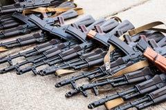 Συλλήφθεία όπλα στοκ εικόνες