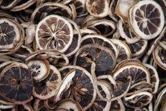 Συλλογές: Τεμαχισμένα ξηρά κομμάτια λεμονιών Στοκ Εικόνα