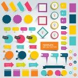 Συλλογές των επίπεδων στοιχείων σχεδίου γραφικής παράστασης πληροφοριών απεικόνιση αποθεμάτων
