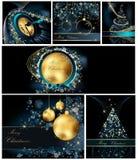 Συλλογές υποβάθρου Χαρούμενα Χριστούγεννας διανυσματική απεικόνιση