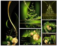 Συλλογές υποβάθρου Χαρούμενα Χριστούγεννας απεικόνιση αποθεμάτων