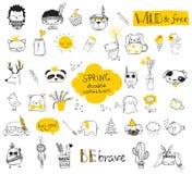 Συλλογή άνοιξη doodle Στοκ εικόνα με δικαίωμα ελεύθερης χρήσης