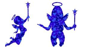 Συλλογή αγγέλων 21 ζωτικότητες βρόχων Άλφα κανάλι Άλφα μεταλλίνη 4K ελεύθερη απεικόνιση δικαιώματος