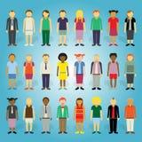 Συλλογή ανθρώπων κινούμενων σχεδίων Στοκ Φωτογραφίες