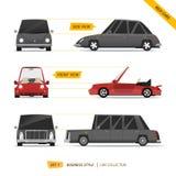 Συλλογή απόψεων αυτοκινήτων ελεύθερη απεικόνιση δικαιώματος