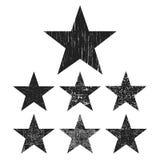 Συλλογή αστεριών Grunge διανυσματική απεικόνιση