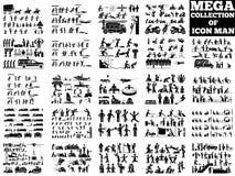 Συλλογή ατόμων εικονιδίων Στοκ εικόνα με δικαίωμα ελεύθερης χρήσης