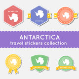 Συλλογή αυτοκόλλητων ετικεττών ταξιδιού της Ανταρκτικής Στοκ Εικόνα