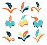 Συλλογή βιβλίων διανυσματική απεικόνιση