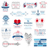 Συλλογή γαμήλιας πρόσκλησης Στοκ Φωτογραφία