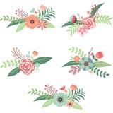 Συλλογή γαμήλιων λουλουδιών Στοκ φωτογραφίες με δικαίωμα ελεύθερης χρήσης