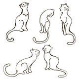 Συλλογή γατών - διανυσματικό σύνολο Στοκ φωτογραφία με δικαίωμα ελεύθερης χρήσης