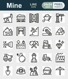 Συλλογή εικονιδίων μεταλλείας για τον Ιστό, app Στοκ φωτογραφία με δικαίωμα ελεύθερης χρήσης