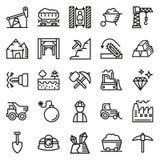 Συλλογή εικονιδίων μεταλλείας για τον Ιστό, app Στοκ Εικόνα