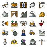 Συλλογή εικονιδίων μεταλλείας για τον Ιστό, app Στοκ Φωτογραφία