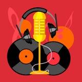 Συλλογή εικονιδίων μουσικής Στοκ εικόνα με δικαίωμα ελεύθερης χρήσης