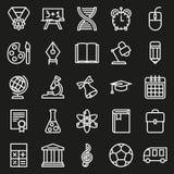 Συλλογή εικονιδίων περιλήψεων Σχολική εκπαίδευση Στοκ φωτογραφίες με δικαίωμα ελεύθερης χρήσης