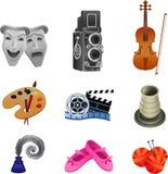 Συλλογή εικονιδίων τεχνών απεικόνιση αποθεμάτων