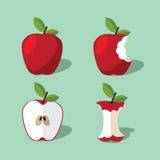 Συλλογή εικονιδίων της Apple Στοκ Εικόνες