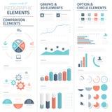 Συλλογή επιχειρησιακών διανυσματική στοιχείων Infographic Στοκ εικόνες με δικαίωμα ελεύθερης χρήσης