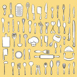 Συλλογή εργαλείων κουζινών Στοκ φωτογραφία με δικαίωμα ελεύθερης χρήσης