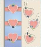 Συλλογή ετικετών καρδιών Στοκ Εικόνες
