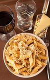 Συλλογή ζυμαρικών - Penne με το τυρί Στοκ φωτογραφία με δικαίωμα ελεύθερης χρήσης
