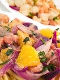 Συλλογή ζυμαρικών - Shell-ζυμαρικά και Linguini με τις γαρίδες Στοκ φωτογραφίες με δικαίωμα ελεύθερης χρήσης