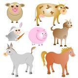 Συλλογή ζώων αγροκτημάτων Στοκ Φωτογραφίες