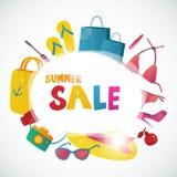 Συλλογή θερινής πώλησης διανυσματικό σχέδιο υποβάθρου απεικόνιση αποθεμάτων
