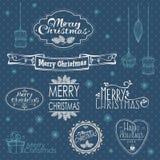 Συλλογή διακοσμήσεων Χριστουγέννων Στοκ φωτογραφίες με δικαίωμα ελεύθερης χρήσης