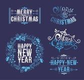 Συλλογή διακοσμήσεων Χριστουγέννων Στοκ εικόνα με δικαίωμα ελεύθερης χρήσης