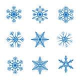 Συλλογή διανυσματικά snowflakes Στοκ Φωτογραφίες