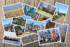 Συλλογή καρτών του Τόκιο Στοκ εικόνες με δικαίωμα ελεύθερης χρήσης