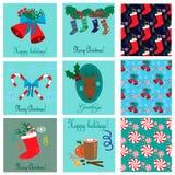 Συλλογή καρτών Χριστουγέννων Στοκ εικόνες με δικαίωμα ελεύθερης χρήσης