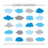 Συλλογή κινούμενων σχεδίων εικονιδίων σύννεφων ελεύθερη απεικόνιση δικαιώματος