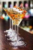 Συλλογή κοκτέιλ - Martini Στοκ εικόνα με δικαίωμα ελεύθερης χρήσης