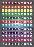 Συλλογή κουμπιών αριθμού Ιστού Στοκ Φωτογραφία