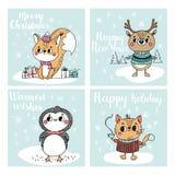 Συλλογή με τις κάρτες Χριστουγέννων Στοκ φωτογραφία με δικαίωμα ελεύθερης χρήσης