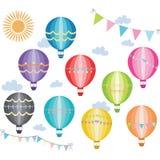 Συλλογή μπαλονιών ζεστού αέρα Στοκ φωτογραφία με δικαίωμα ελεύθερης χρήσης