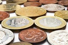 Συλλογή νομισμάτων με τα παλαιά νομίσματα Στοκ Εικόνα