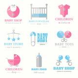 Συλλογή λογότυπων μωρών Στοκ Φωτογραφία