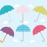 Συλλογή ομπρελών Στοκ Εικόνα