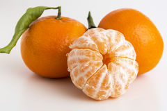 Συλλογή ολόκληρων tangerine ή κλημεντινών των εσπεριδοειδών Στοκ Φωτογραφία