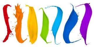 Συλλογή παφλασμών χρωμάτων Στοκ εικόνα με δικαίωμα ελεύθερης χρήσης