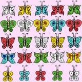 Συλλογή πεταλούδων Απεικόνιση αποθεμάτων