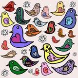 Συλλογή πουλιών Ελεύθερη απεικόνιση δικαιώματος