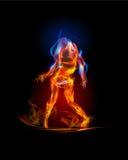 Συλλογή πυρκαγιάς, χορεύοντας κορίτσι Στοκ Εικόνες