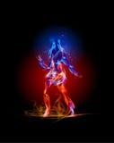 Συλλογή πυρκαγιάς, χορεύοντας κορίτσι Στοκ Φωτογραφία